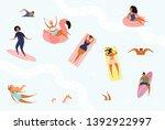 hand drawn vector illustration... | Shutterstock .eps vector #1392922997