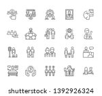 set of humanity related vector... | Shutterstock .eps vector #1392926324