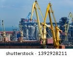 industrial port in odessa city  ... | Shutterstock . vector #1392928211