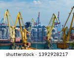 industrial port in odessa city  ... | Shutterstock . vector #1392928217