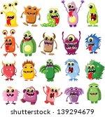 cartoon cute monsters   Shutterstock .eps vector #139294679