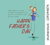 vector illustration of father... | Shutterstock .eps vector #139294874