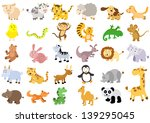 extra large set of animals. ... | Shutterstock .eps vector #139295045
