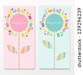 baby shower cards with funny... | Shutterstock .eps vector #139296239