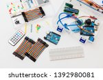 electronic components  chips ... | Shutterstock . vector #1392980081