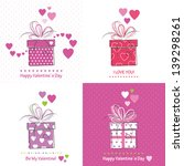 cute valentine s day cards | Shutterstock .eps vector #139298261