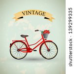 vintage retro bicycle | Shutterstock .eps vector #139299335