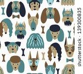 dog seamless pattern | Shutterstock .eps vector #139300835