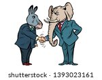 Donkey Shakes Elephant Hand....