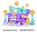 getting salary  basic...   Shutterstock .eps vector #1393024934