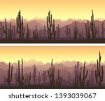 set of horizontal banners of... | Shutterstock .eps vector #1393039067
