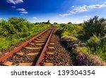 Scenic Railroad In Rural Area...