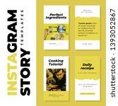 instragram stories template for ... | Shutterstock .eps vector #1393052867