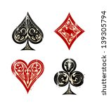 Vintage Playing Cards Symbols...