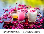 popular ramazan drink i.e. rose ... | Shutterstock . vector #1393072091
