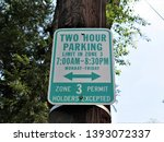 Parking Sign For Two Hours Onl...