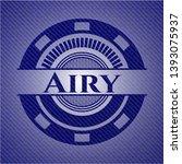 airy emblem with denim texture. ... | Shutterstock .eps vector #1393075937