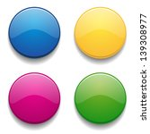 colorful glossy round buttons | Shutterstock .eps vector #139308977
