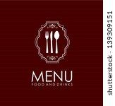 frame  menu over  red... | Shutterstock .eps vector #139309151