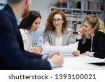 business people working... | Shutterstock . vector #1393100021