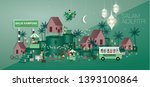 raya greetings template vector... | Shutterstock .eps vector #1393100864
