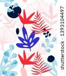 tropical leaves seamless... | Shutterstock .eps vector #1393104497