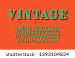 vector vintage font and... | Shutterstock .eps vector #1393104824