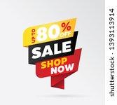 vector sale banner template... | Shutterstock .eps vector #1393113914
