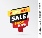 vector sale banner template... | Shutterstock .eps vector #1393113917