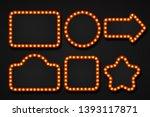 light bulb frame. makeup mirror ... | Shutterstock . vector #1393117871