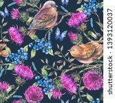 watercolor seamless pattern...   Shutterstock . vector #1393120037