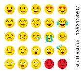 emoji set. emoticon cartoon... | Shutterstock . vector #1393123907