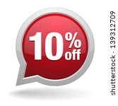 10 percent off speech bubble