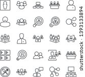 thin line icon set   spoon and... | Shutterstock .eps vector #1393133894