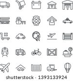 thin line icon set   plane... | Shutterstock .eps vector #1393133924