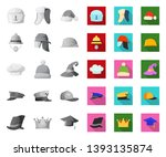 isolated object of headgear and ...   Shutterstock .eps vector #1393135874