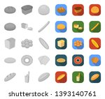 types of bread mono flat icons... | Shutterstock .eps vector #1393140761
