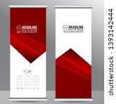 roll up business brochure flyer ... | Shutterstock .eps vector #1393142444