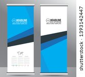 roll up business brochure flyer ... | Shutterstock .eps vector #1393142447
