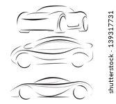 vector silhouette of racing car ...   Shutterstock .eps vector #139317731