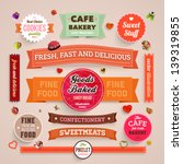 Set Of Retro Bakery Labels ...