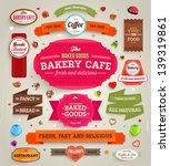 set of retro bakery labels ... | Shutterstock .eps vector #139319861