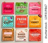 set of retro bakery labels ... | Shutterstock .eps vector #139319867