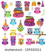 vector set of party or birthday ... | Shutterstock .eps vector #139320311