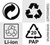 recycling symbol. it means that ... | Shutterstock .eps vector #1393206851