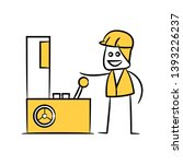 engineer or operator control... | Shutterstock .eps vector #1393226237