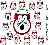 alarm clock cartoon with many... | Shutterstock .eps vector #139322645