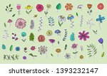 collection of cute hand drawn... | Shutterstock .eps vector #1393232147