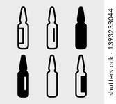 Black Set Of Ampoules Icons ...