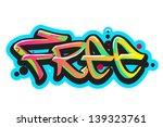 graffiti vector art urban... | Shutterstock .eps vector #139323761